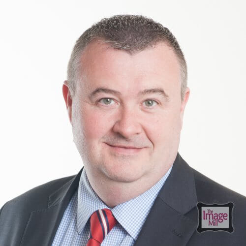 Man, Headshot photograph, business portrait, by photographer Phill Andrew at The Image Mill, Bradford, West, Yorkshire
